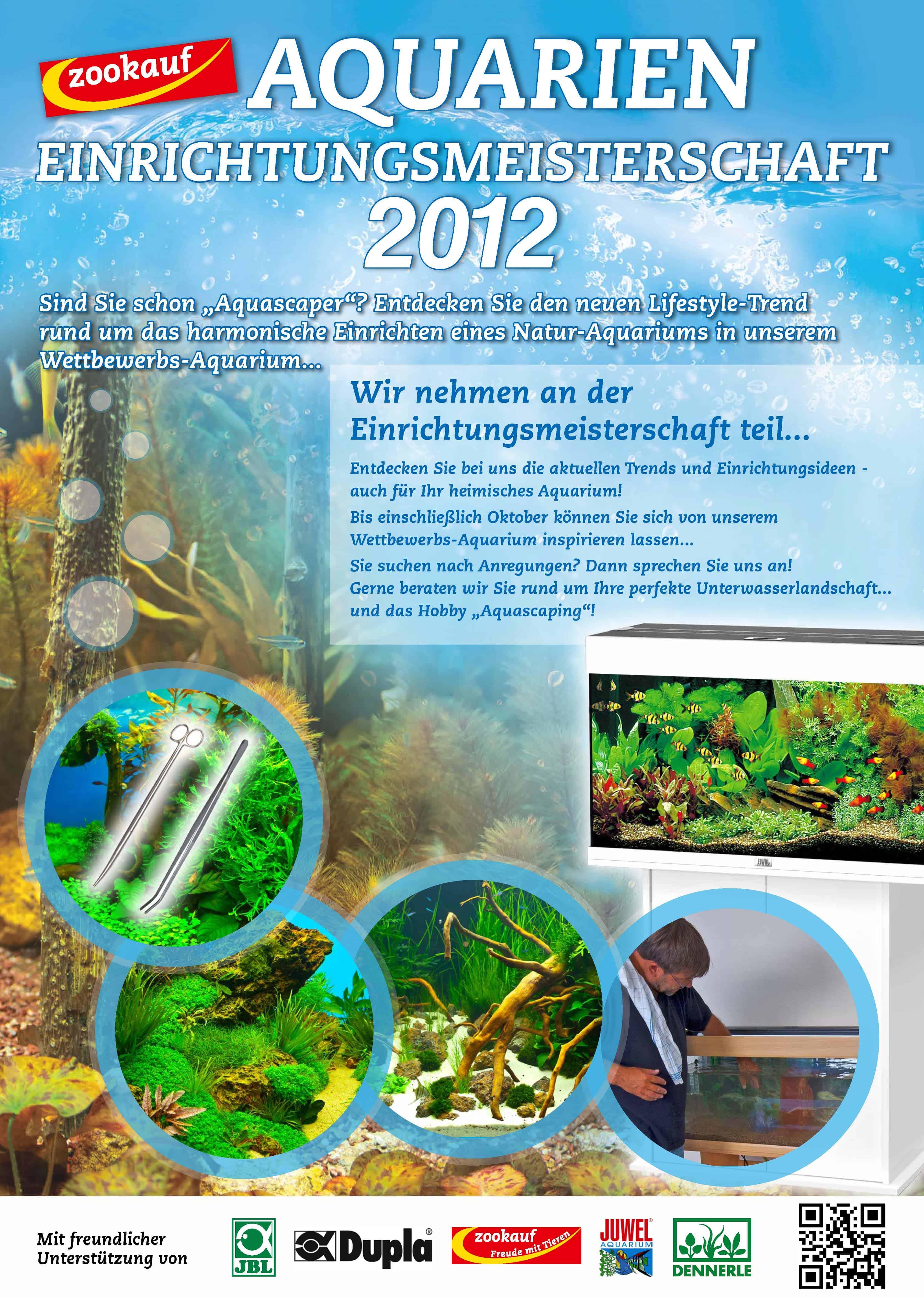 zookauf Aquarien-Einrichtungsmeisterschaft 2012: Maßnahme zur Förderung der Aquaristik 1