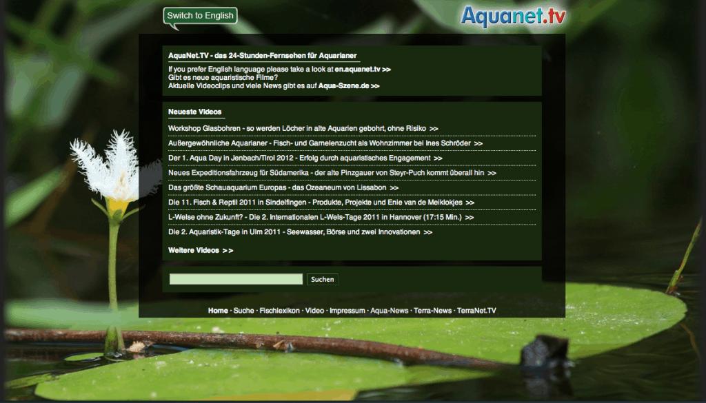 Aquanet.TV - Fernsehen für Aquarianer 1