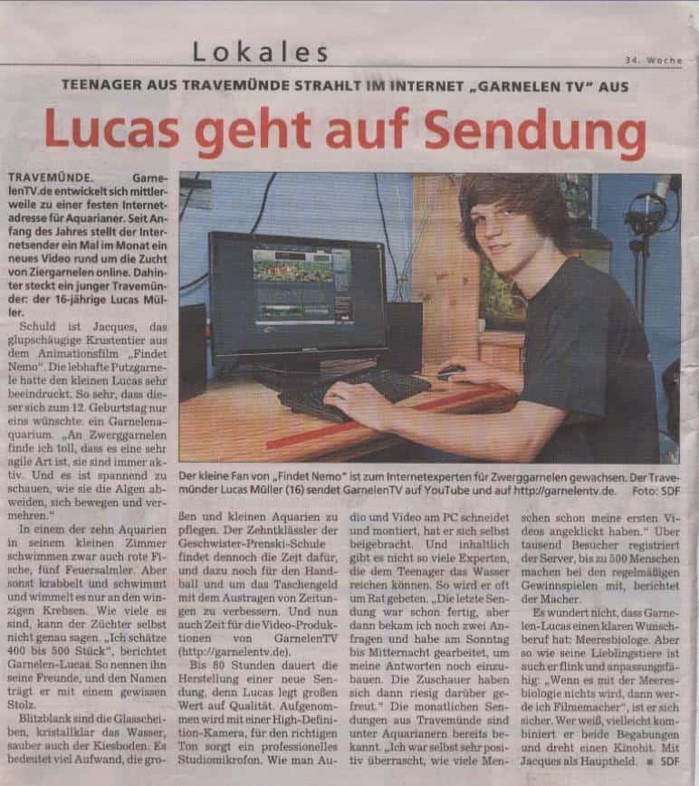 Lucas geht auf Sendung