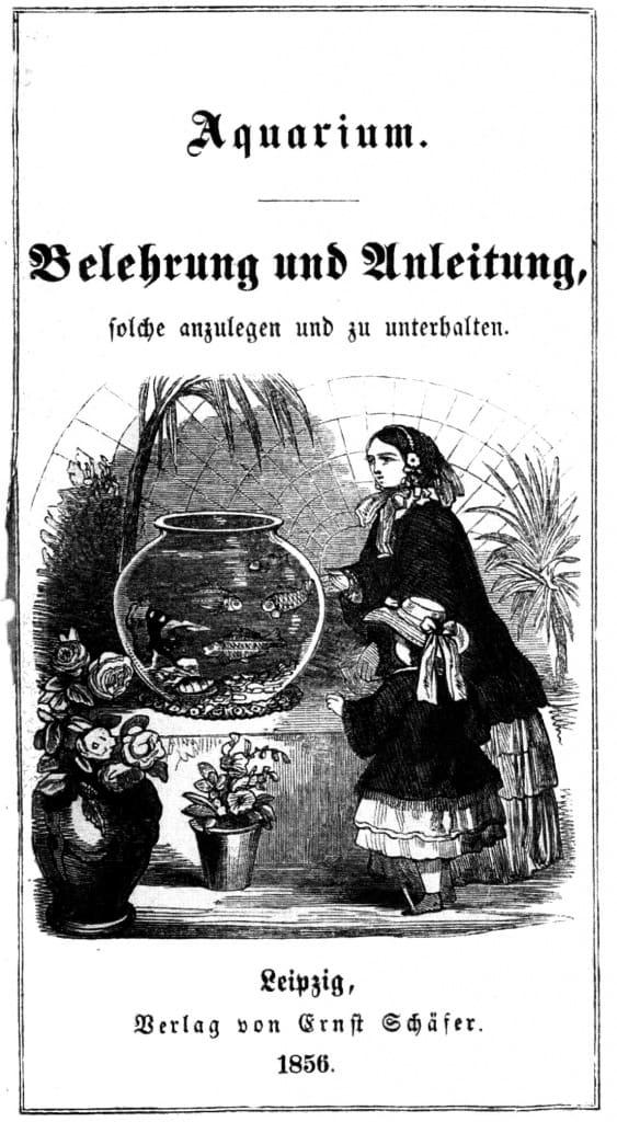 Titelblatt des ersten deutschsprachigen Aquarienbuches