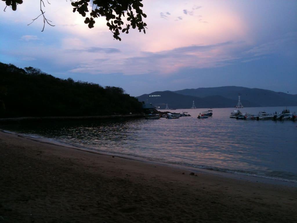 die Bucht vor unserem Hotel