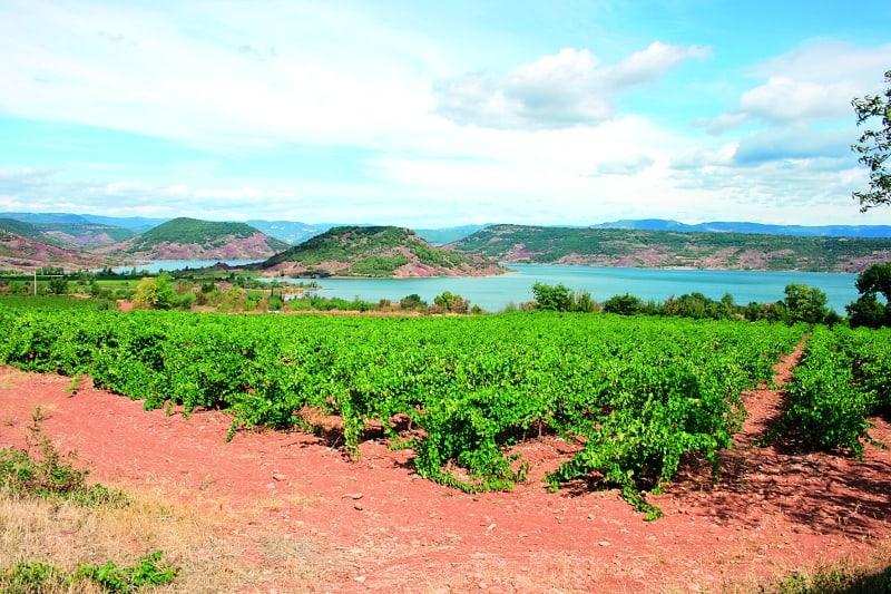 Foto: Blick über den Lac de Salagou in Südfrankreich. Foto: Uwe Dost