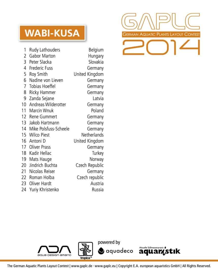 GAPLC 2014 - Ergebnisse 2014 3
