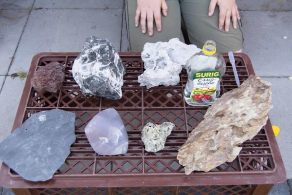 Steine härten auf - Essigtest Kids