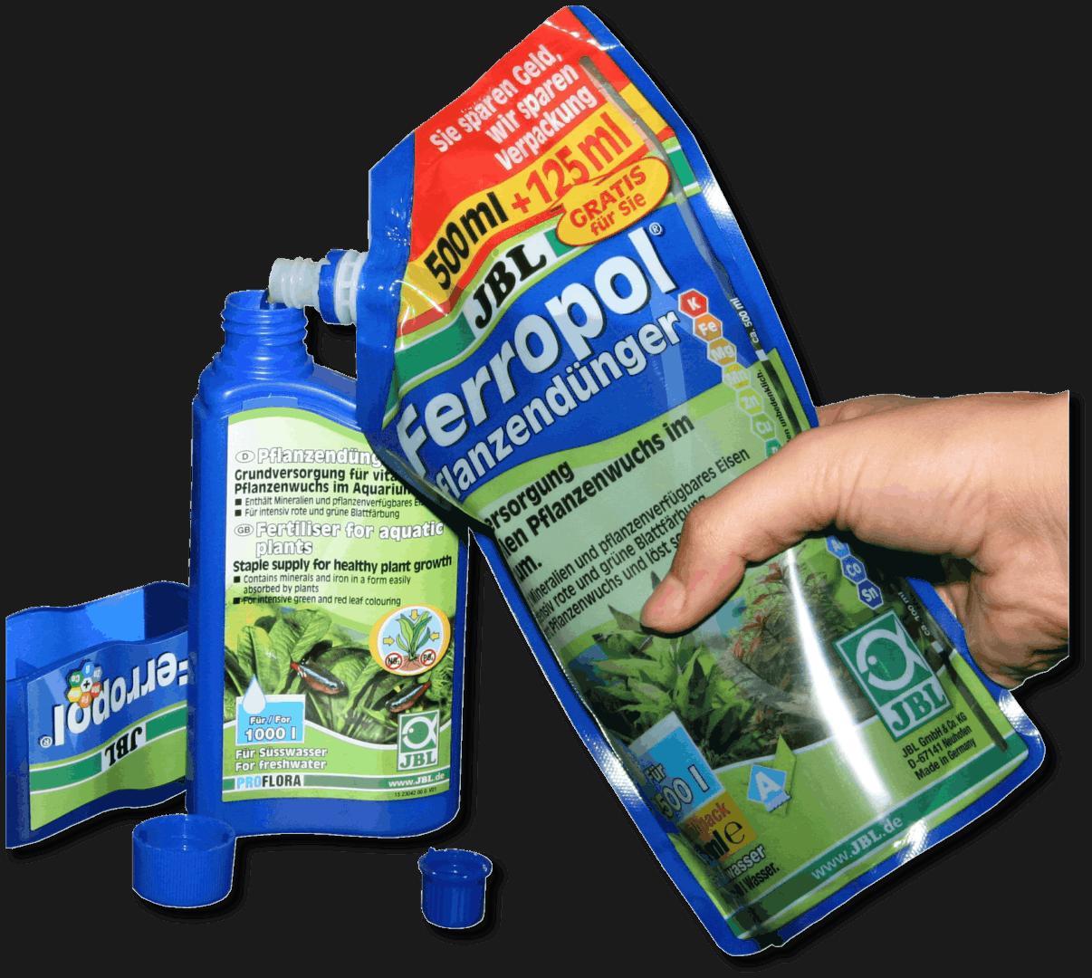 JBL Nachhaltigkeit -Nachfüllpack für Flüssigkeiten wie Wasseraufbereiter und Pflanzendünger