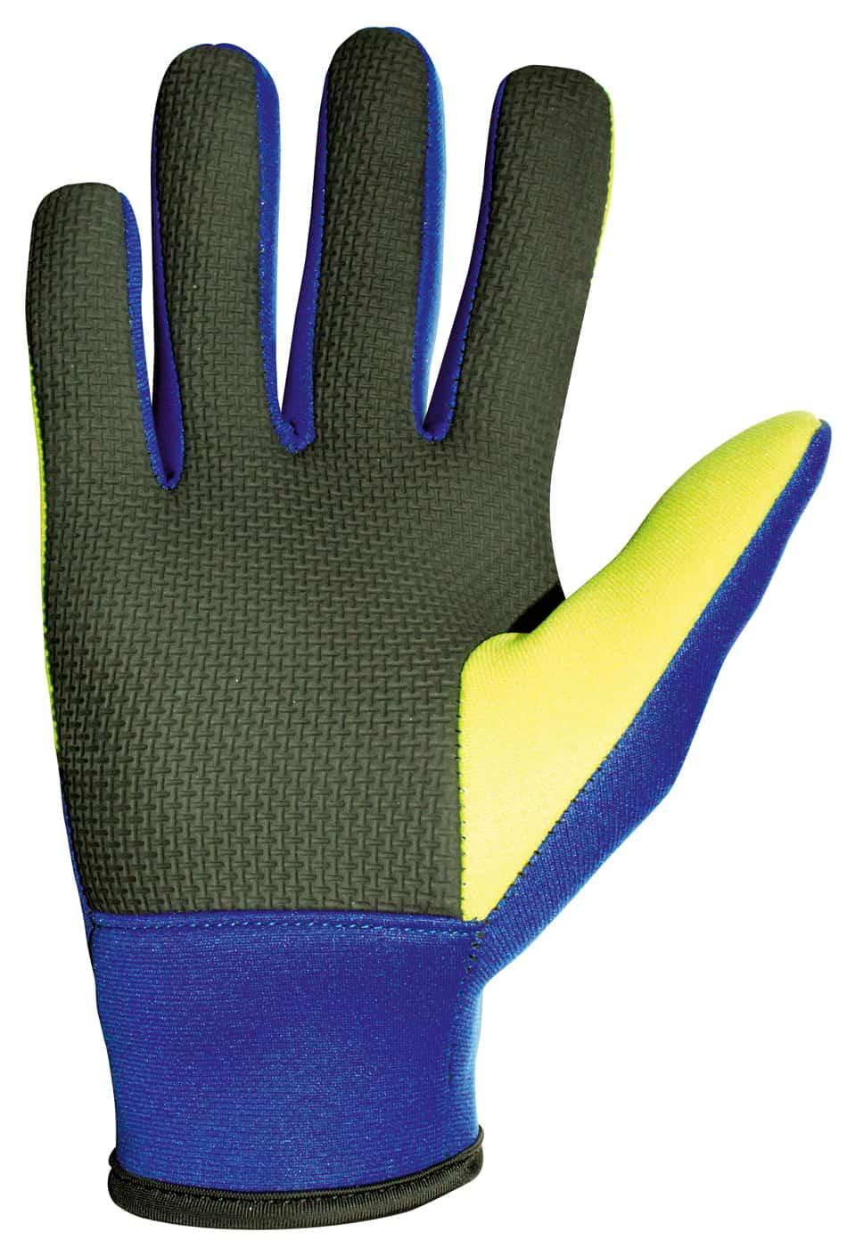 Damit die Hände beim Arbeiten am Wasser nicht kalt werden, bieten sich spezielle Teichhandschuhe an.