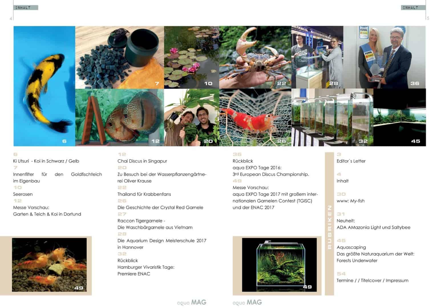 aqua MAG No 3 ist erschienen - Das Indoor und Outdoor Aquaristik MAGazin 2