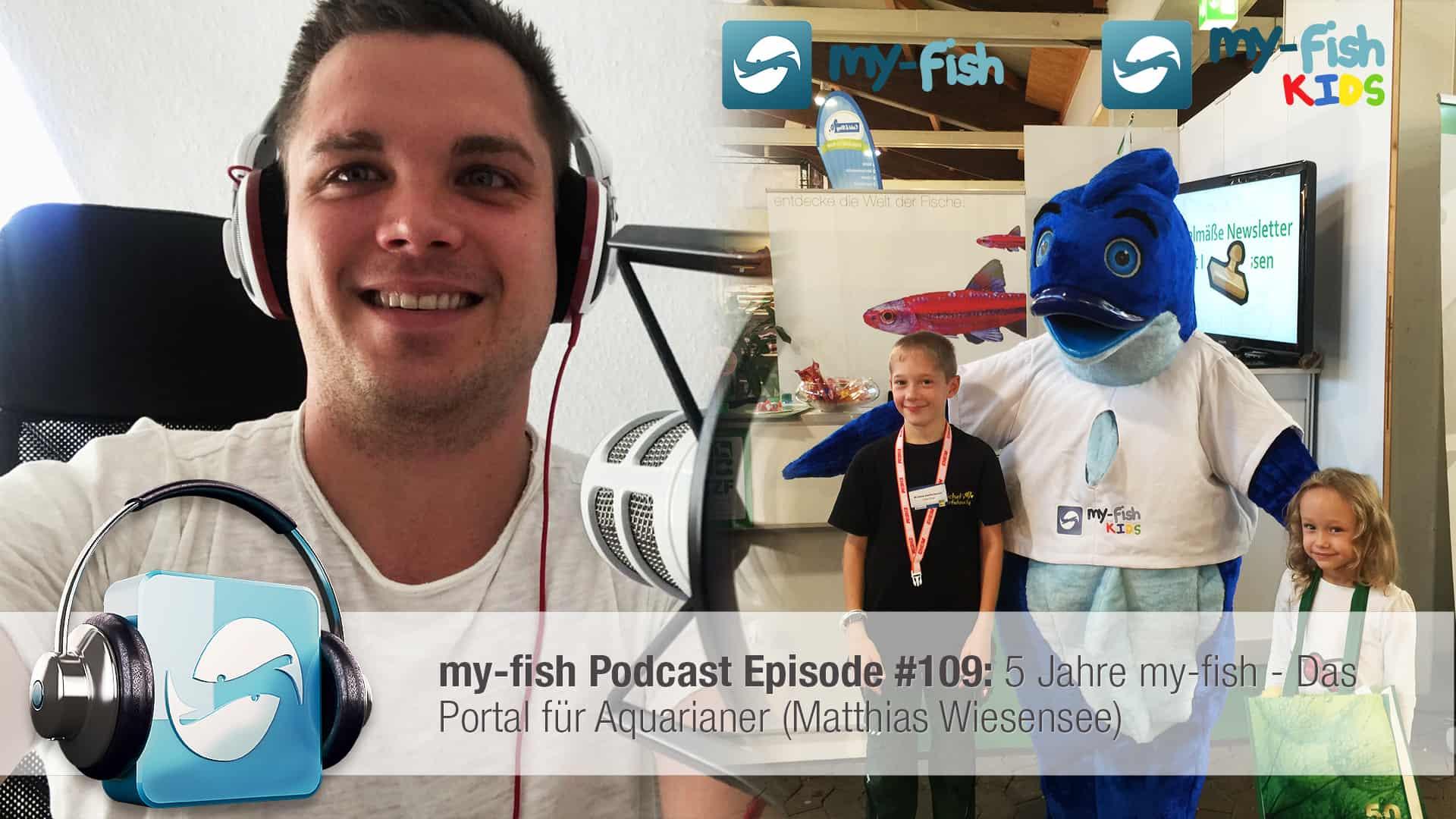 Podcast Episode #109: 5 Jahre my-fish - Das Portal für Aquarianer (Matthias Wiesensee) 1