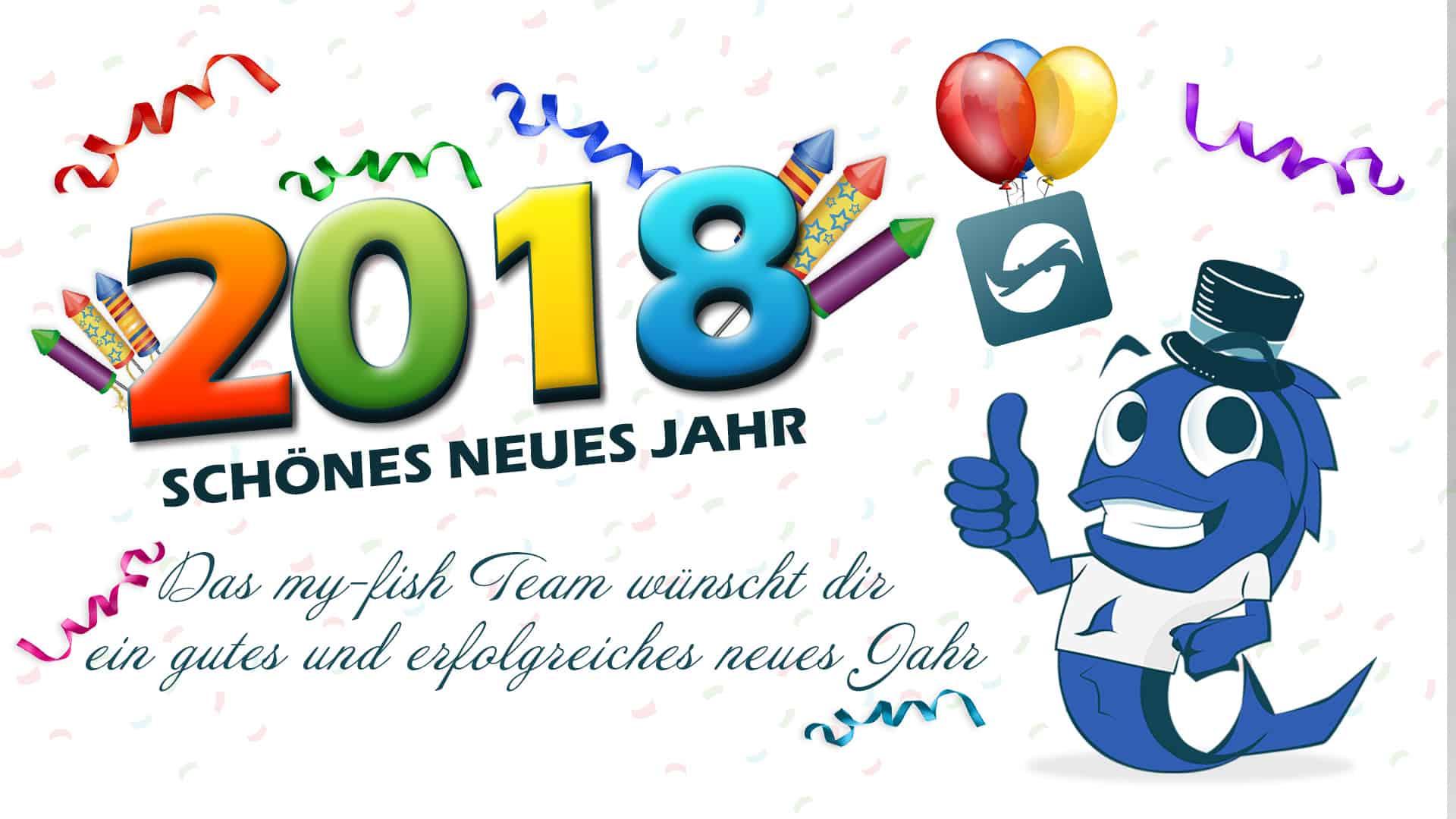 my-fish wünscht dir ein schönes neues Jahr 2018 - my-fish