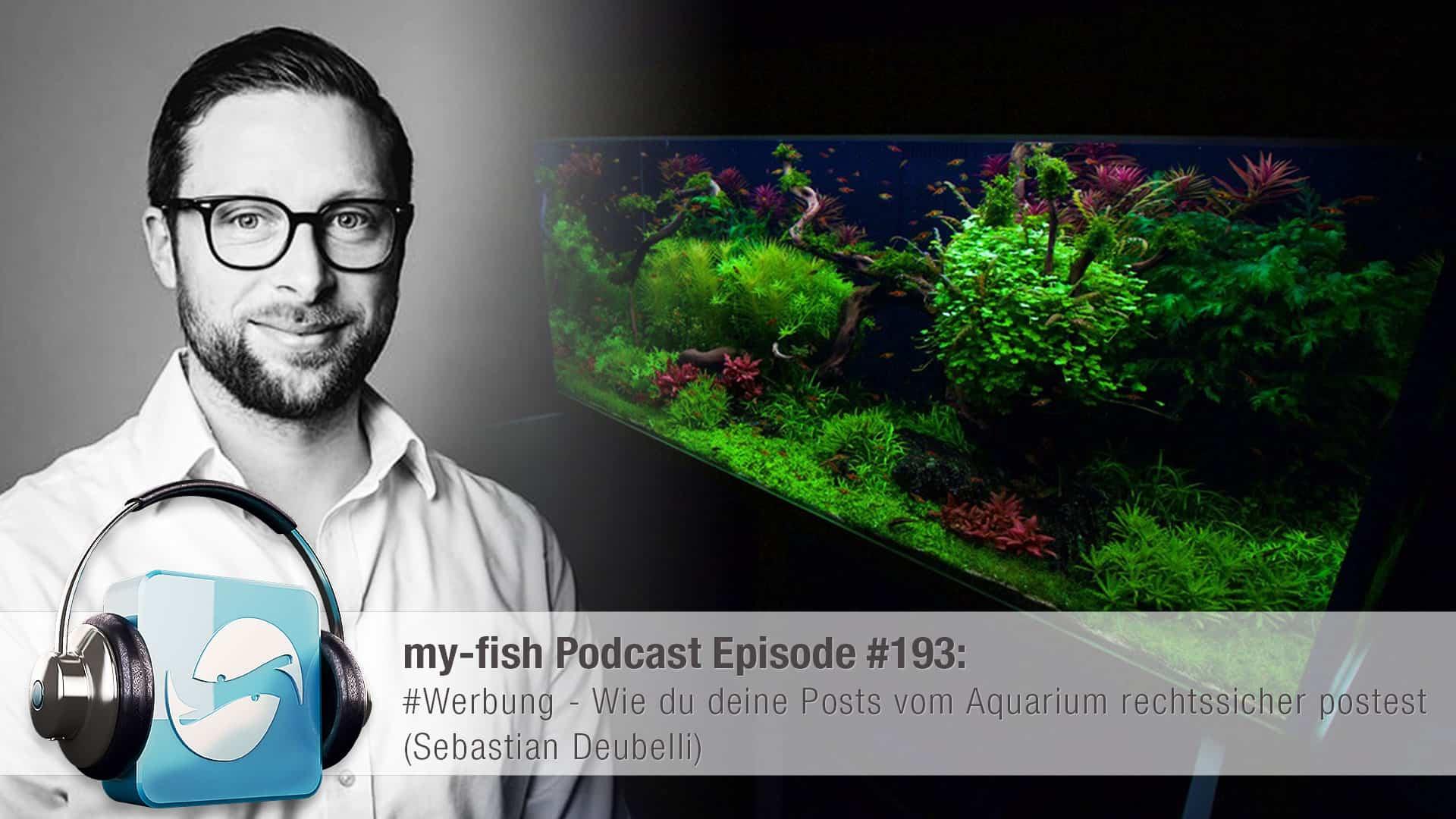 193: #Werbung - Wie du deine Posts vom Aquarium rechtssicher postest (Sebastian Deubelli) 1