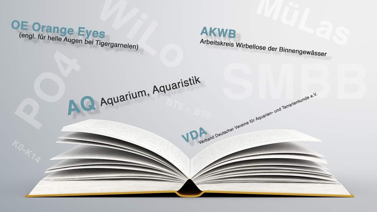 Liste gängiger Abkürzungen in der Aquaristik 1