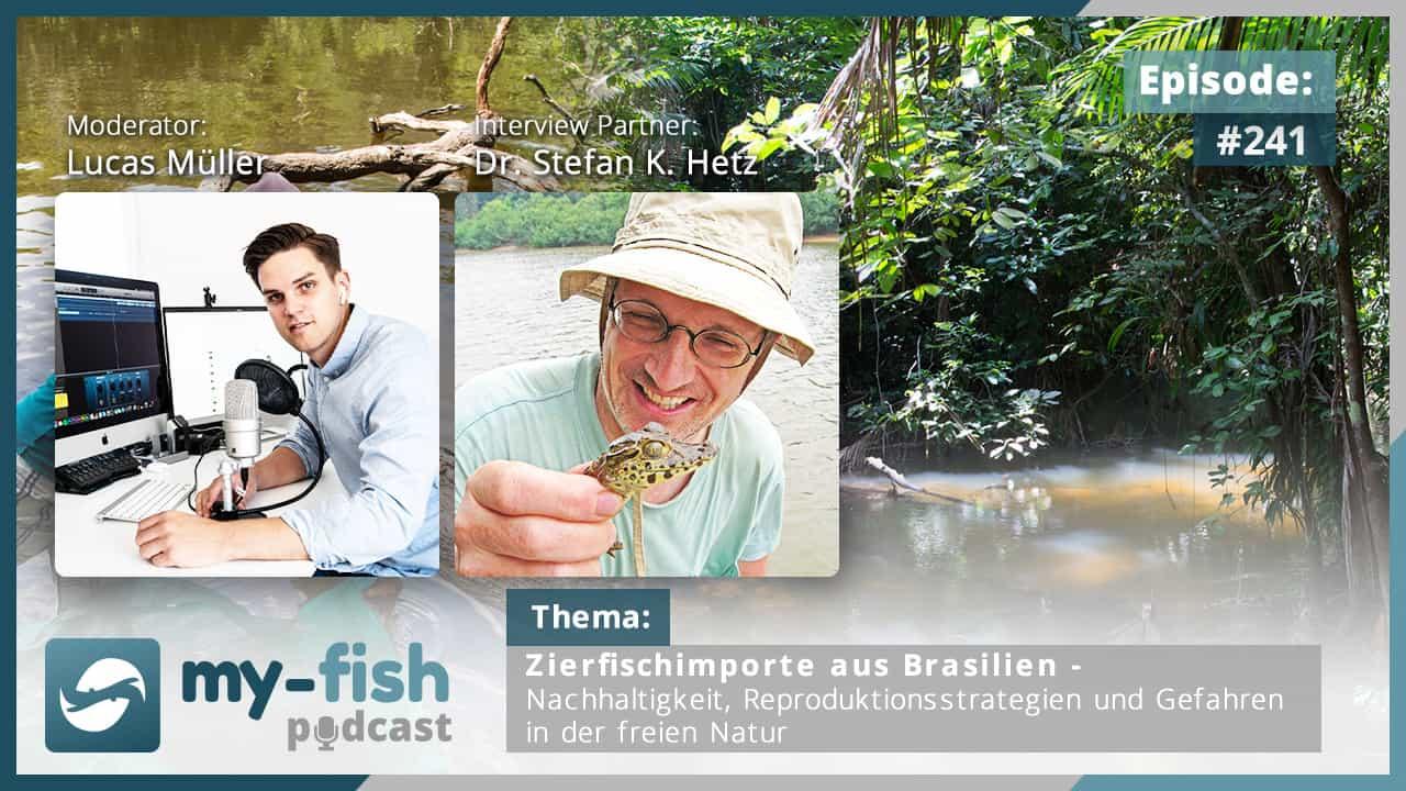 241: Zierfischimporte aus Brasilien – Nachhaltigkeit, Reproduktionsstrategien und Gefahren in der freien Natur (Dr. Stefan K. Hetz)