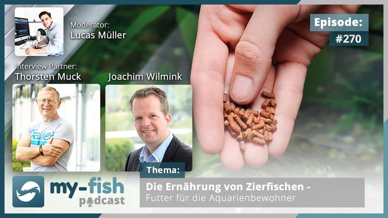 Podcast Episode #270: Die Ernährung von Zierfischen - Futter für die Aquarienbewohner (Thorsten Muck & Joachim Wilmink)