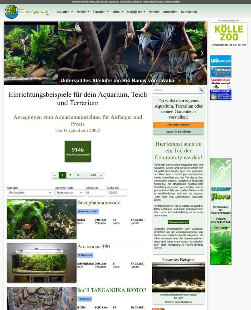 282: Einrichtungsbeispiele.de - Anregungen zum Aquariumeinrichten für Anfänger und Profis (Thomas Thammer) 2